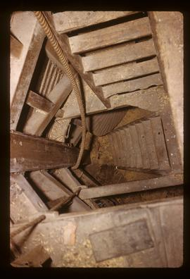 Looking down through stairwell, smock mill, Meopham
