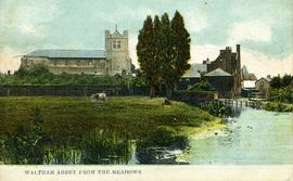 Waltham Abbey from the Meadows