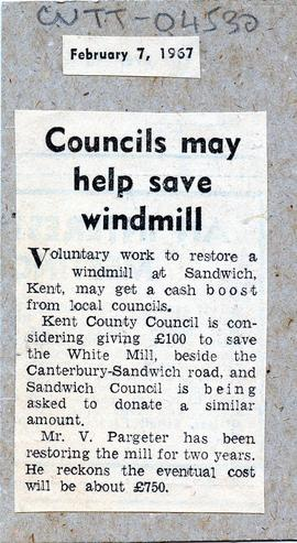"""Councils may help save mill"""