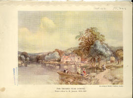 """Thames at Streatley, with Streatley mill in the centre of the picture"""