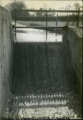 Littlebourne, wheelwell and penstock, 30 March 1954