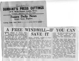 """A free windmill - if you can save it"""