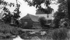 View from upstream, Potters Corner Mill, Hothfield