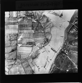 Aerial view of Stretham floods, 1947