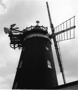 Tower mill with damaged sails