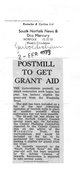 """Postmill to get Grant Aid"""