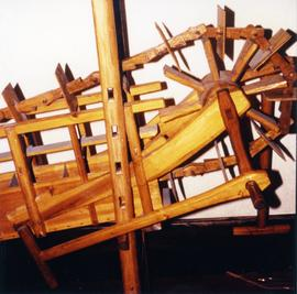 Photograph of a Dragon wheel paddle pump