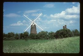 Stracey Arms Mill, Tunstall, restored with sails