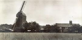 Upthorpe Road Mill, Stanton, with house in surrounding countryside