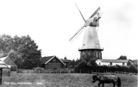 Union Mill, Cranbrook, From field showing fantail and back of sweep