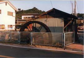 Photograph of a waterwheel, Japan