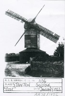 Upthorpe Road Mill, Stanton, with two missing sails