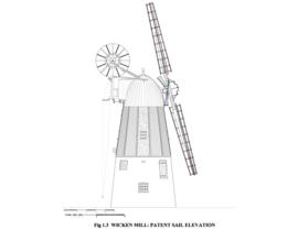 Patent sail elevation