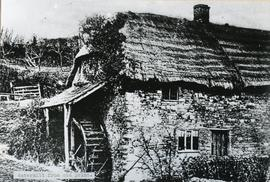 Watermill from old print.