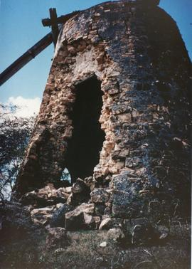 Photograph of Union Mill, Antigua in partial ruin