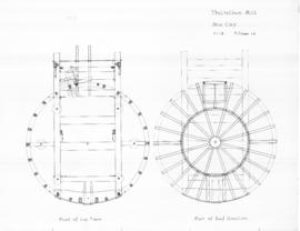 Thelnetham mill: new cap frame and roof plan