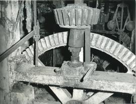 Pit wheel and wallower, watermill, Kersey