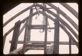 Detail of cap roof framing, smock mill, West Kingsdown