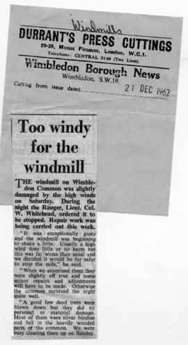 """Too windy for the windmill"""