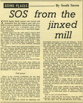 """SOS from the jinxed mill"""