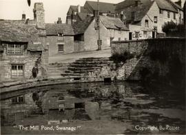 Mill pond and steps, Old Mill, Swanage