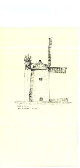 Freehand sketch of Duloe mill c1910