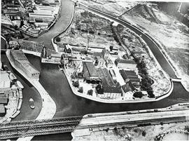 Three Mills W. Ham air photograph