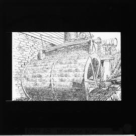 Illustration 19c water wheel