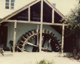 Wheel house and waterwheel, Littlebourne Mill, Littlebourne, Canterbury