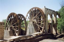 Waterwheels and part building, Hama