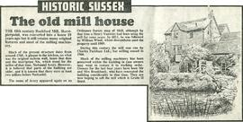 """The old mill house"""