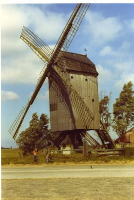 Unidentified derelict post mill, Belgium, summer 1971