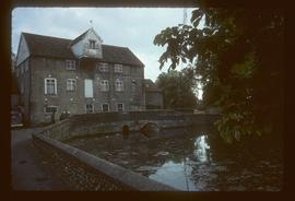Mill Lane Mill, Thetford, with lucam, by river