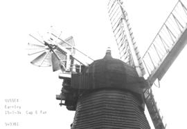 Cap and fan of the smock mill in Earnley, Sussex