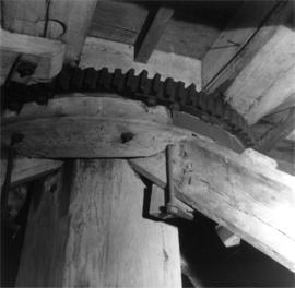 Winding rack on collar, post mill, Ramsey