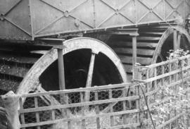 Waterwheels in tandem, Waltham Chase Mill, Bishop's Waltham