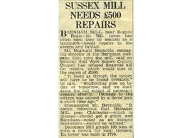"""Sussex mill needs £500 repairs """