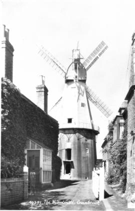 Union Mill, Cranbrook, From entry road, rear-on view of sweeps