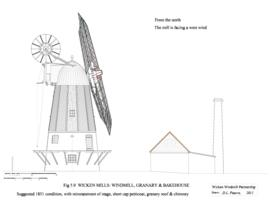 Wicken Windmill: Windmill and Granary