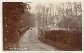 Mill Lane, Grove, looking towards the bridge over the Letcombe Brook