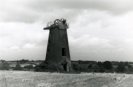 Tower mill, Honingham, in a disused and derelict condition