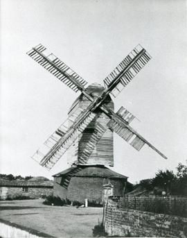Upthorpe Road Mill, Stanton, with Broken Sail