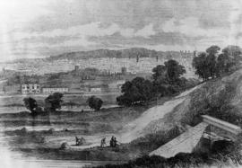 Ipswich from Stoke Hill 1851