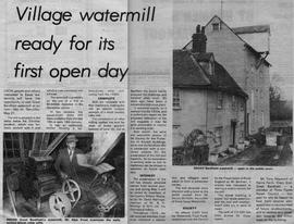 """Village watermill ready for its first open day"""