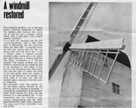 """A windmill restored"""