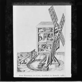Post Mill for Corn Drawing by Ramelli, 1588