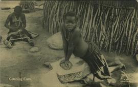 Child grinding corn, Johannesburg
