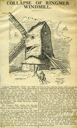 """Collapse of Ringmer Windmill"""
