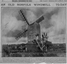 """An old Norfolk windmill"""