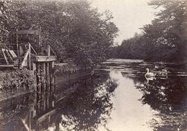 View of a Wharf on River Granta